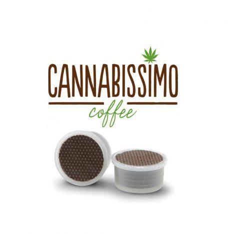 Cannabissimo Caffè Gourmet Coffee con Semi di Canapa – Capsula FAP da 7gr. Compatibile Lavazza