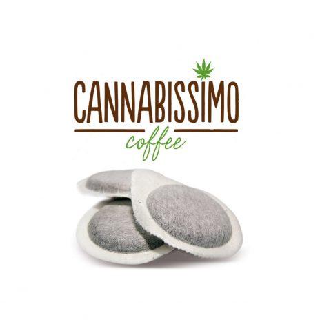 Cannabissimo Caffè Gourmet Coffee con Semi di Canapa – Cialde ESE (44mm.) da 7gr. per Espresso Casa