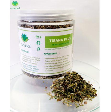 Canapoil Tisana Plus CBD Confezione da 40gr Infiorescenze di Canapa