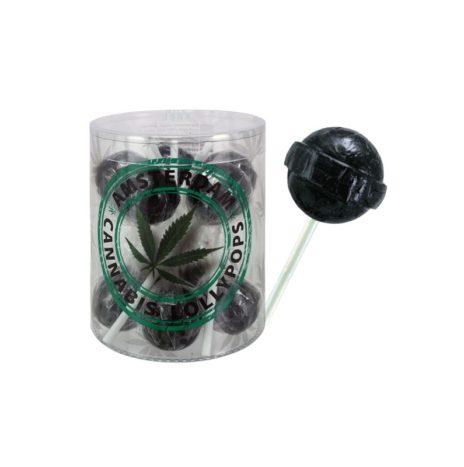 Real Hemp Amsterdam Black Cannabis Lollipops 18gr