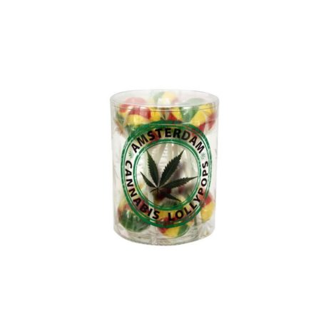 Real Hemp Amsterdam Rasta Cannabis Lollipops 18gr