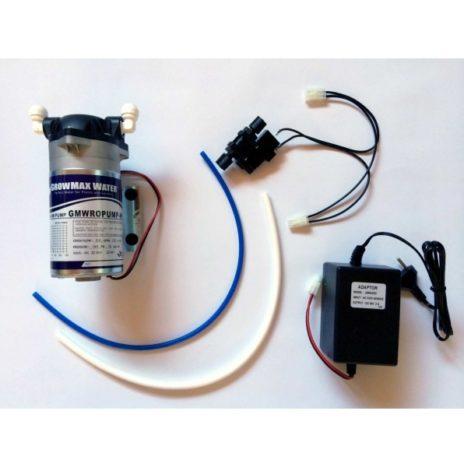 GrowMax Water Kit Pompa ad Alto Flusso per Bassa Pressione (GMWROPUMPKIT-HF) per Sistemi a Osmosi Inversa