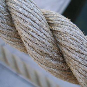 Diametri 12 mm//14 mm//16 mm corda in canapa naturale.