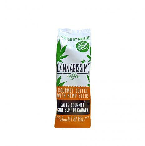 Cannabissimo Caffè Gourmet Coffee con Semi di Canapa – Confezione da 250gr. con Valvola