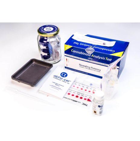Alpha Cat Mini Kit con 8 Analisi dei Cannabinoidi
