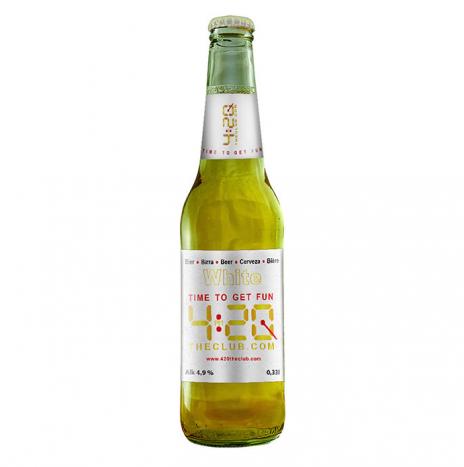 420 White Beer Birra Artigianale Pils con Fiori di Canapa 33cl
