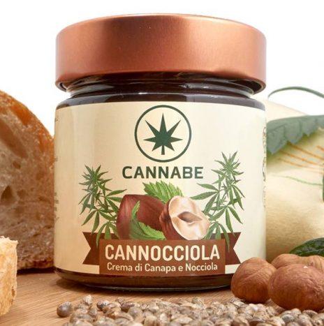 CannaBe Cannocciola Crema spalmabile con Sciroppo di Agave 210gr